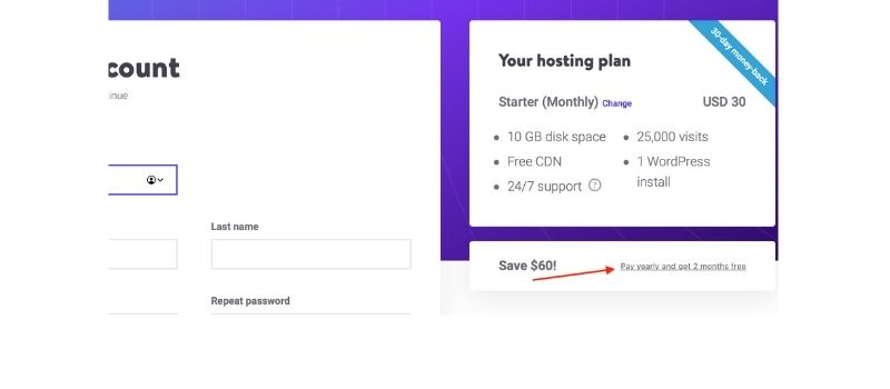 step 3 to apply kinsta disc. code