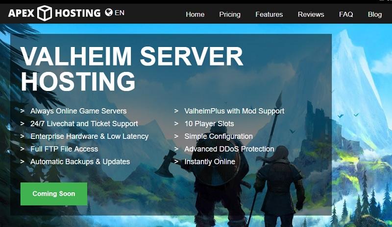 apex valheim server hosting