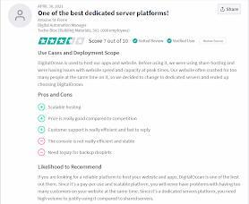 digitalocean customer review