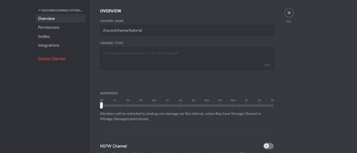 final discord settings and permissions