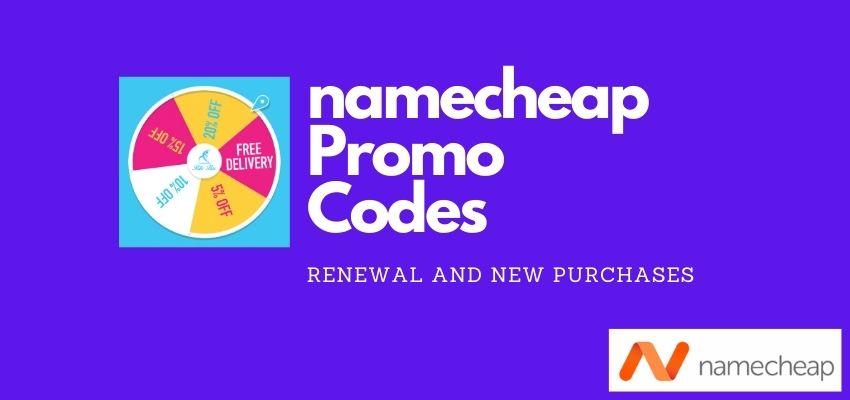 namecheap renewal and new Promo Codes