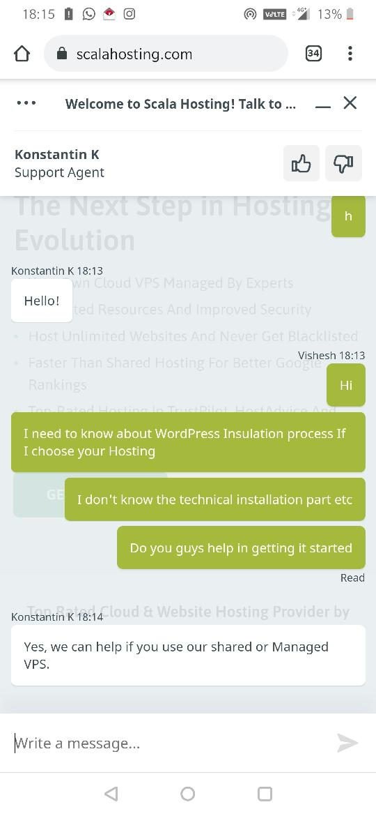 review of scalahosting customer service