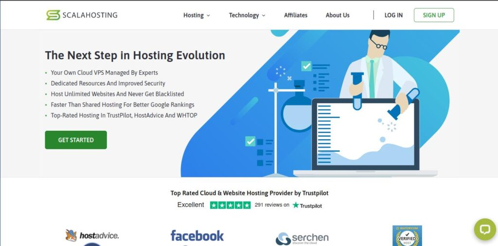 scalahosting with more server options as compared to Namecheap