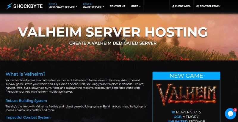 shockbyte valheim server hosting