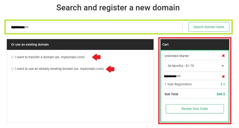 stablehost get a domain