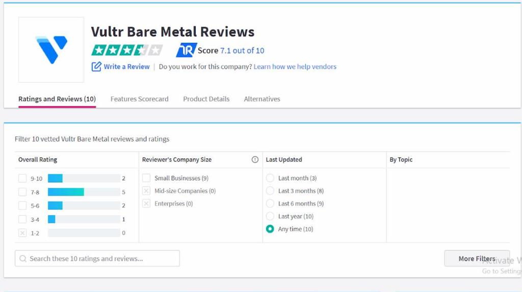 vultr customer review