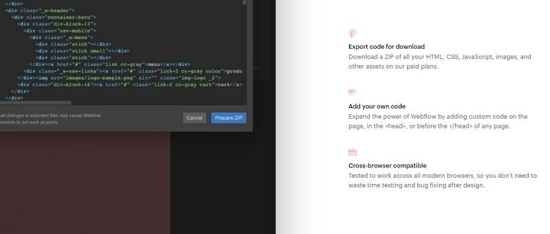 webflow add custom code