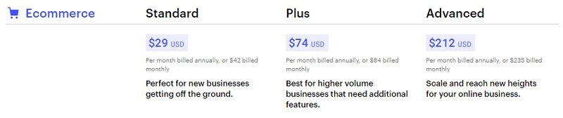 webflow ecommerce plans