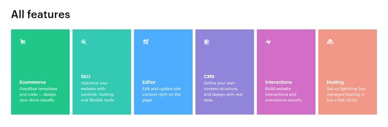 webflow features