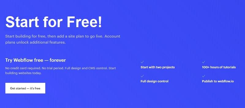 webflow free