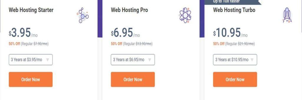 Chemicloud web hosting plan