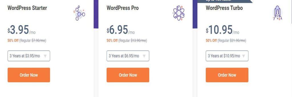 Chemicloud WordPress hosting plan