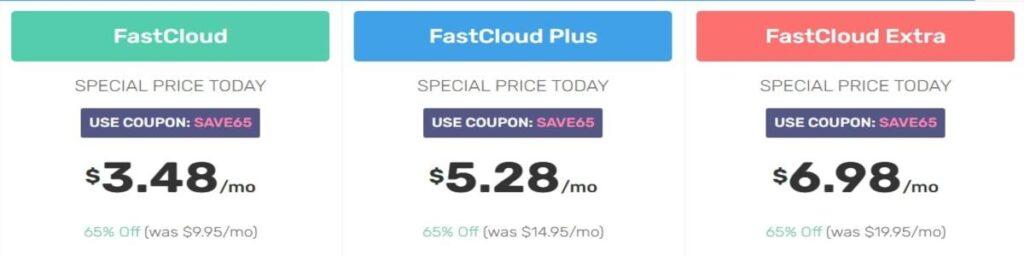 FastComet Shared Hosting Plan