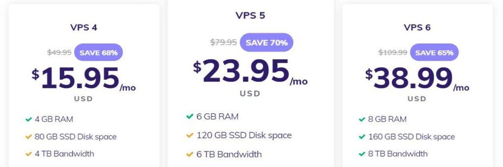 Hostinger VPS hosting plans 2