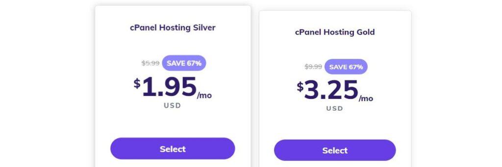 Hostinger cpanel hosting plans