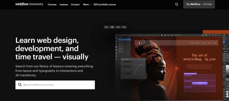 Webflow has so many design options