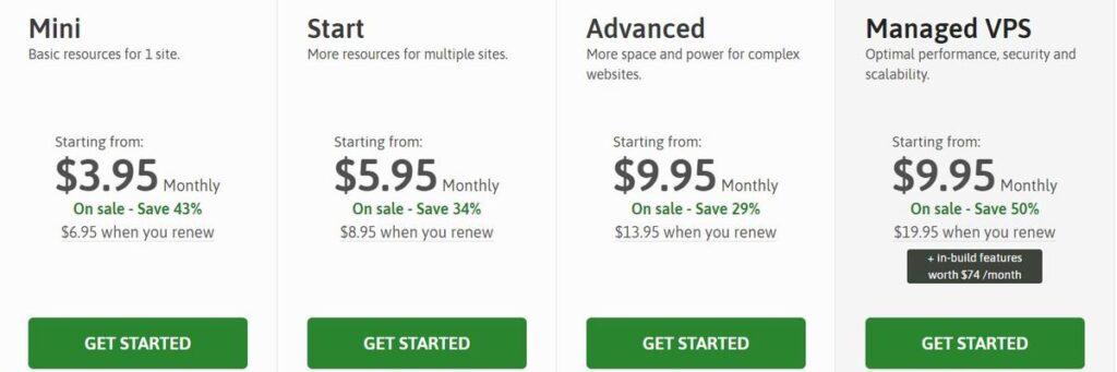 Scalahost web hosting plan