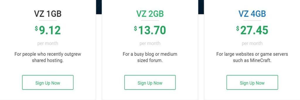 Stablehost VPS hosting plan