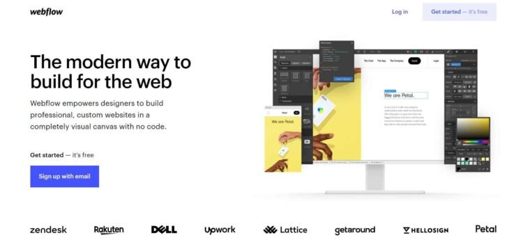 Webflow is a cloud-based website builder that lets anyone design a beautiful website.
