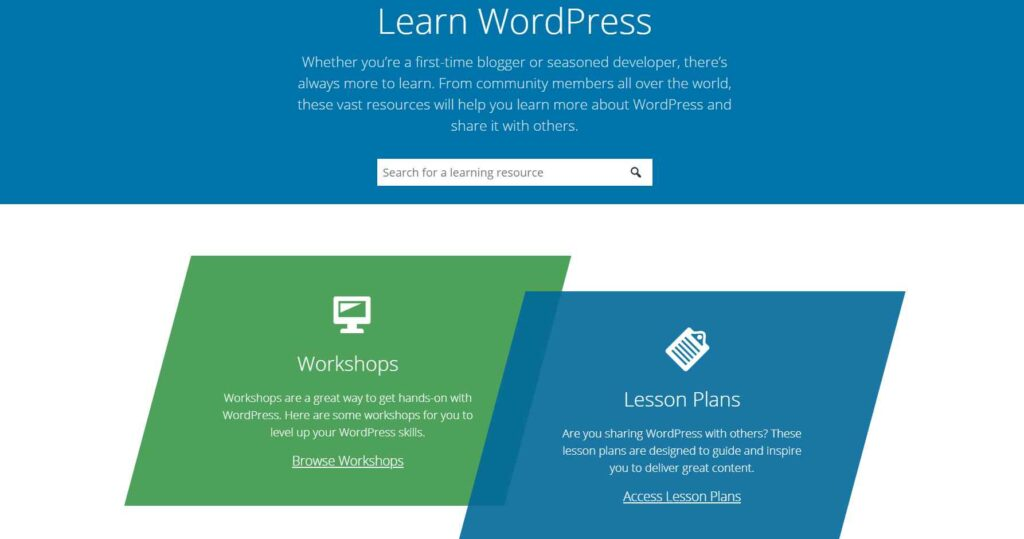 Features available with the Free WordPress