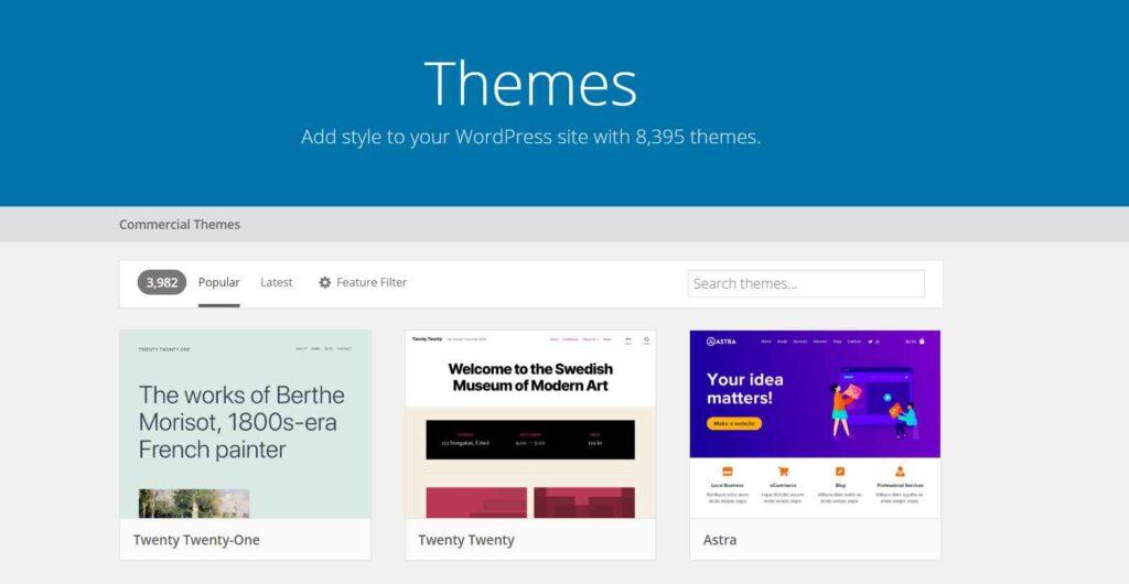 wordpress themes, free and paid