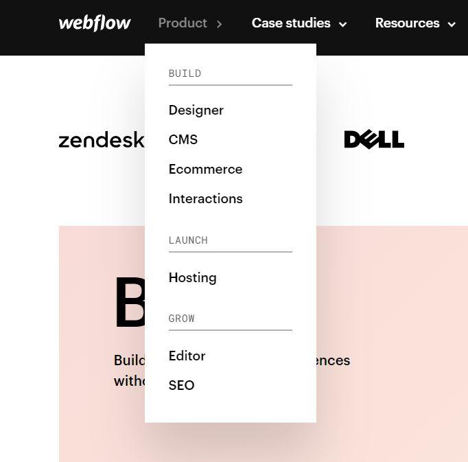 Designer, CMS, Ecommerce, Interaction, Hosting, Editor, SEO