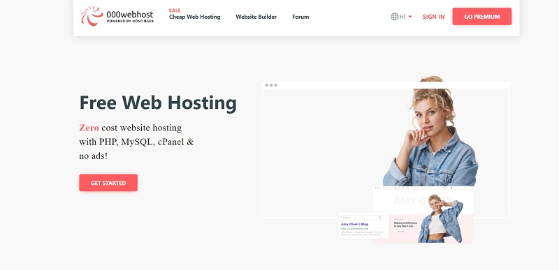 000webhost database web hosting plans