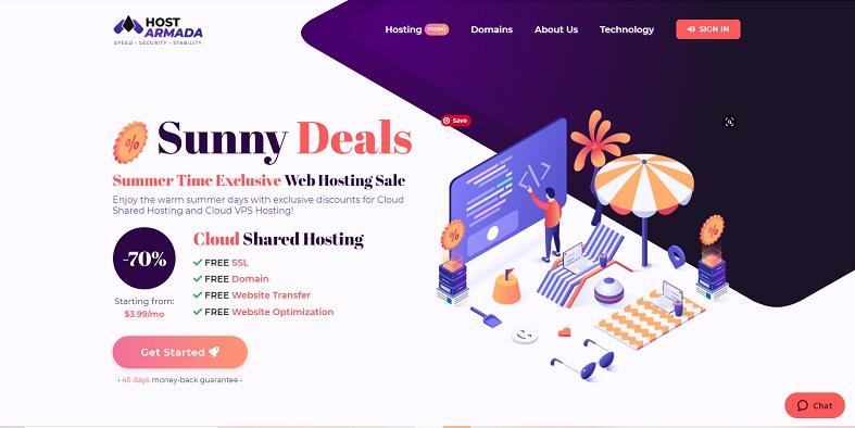 HostArmada web hosting Canada