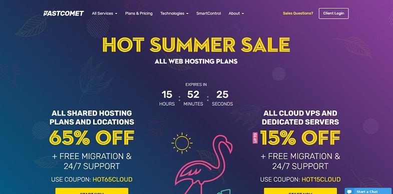 Fastcomet web hosting canada