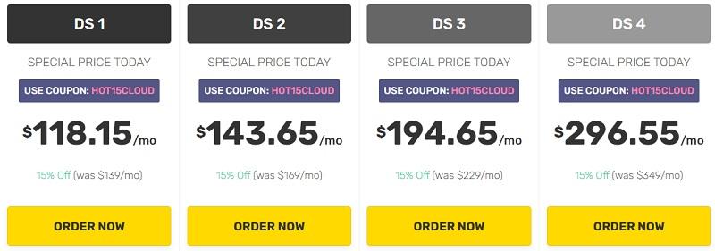 Fatcomet Dedicated CPU server Hosting pricing