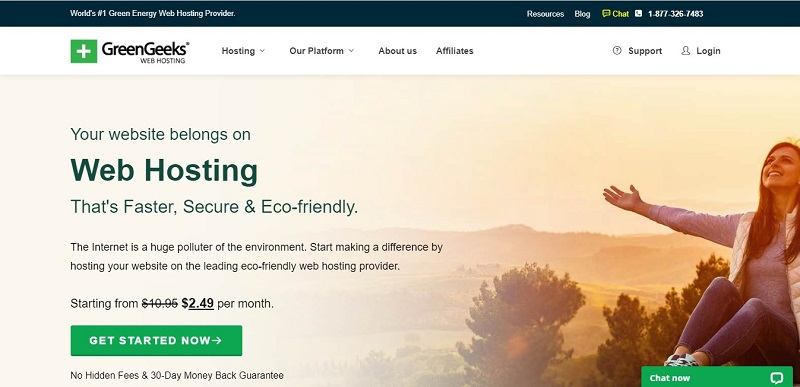 monthly web hosting solutions by GreenGeeks