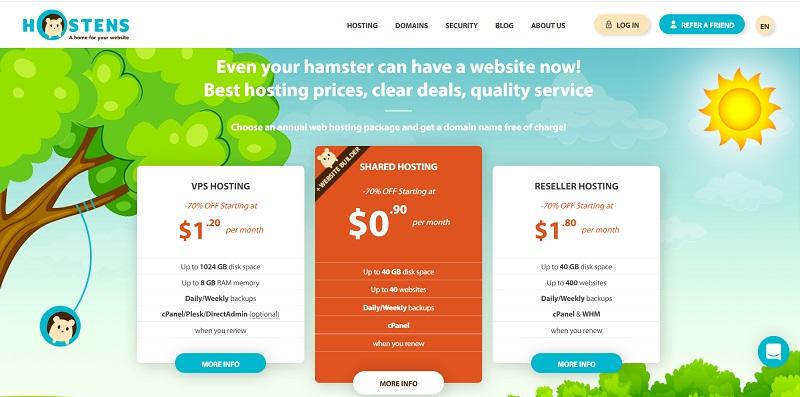 hostens monthly web hosting plans