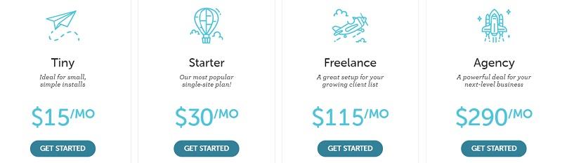 flywheel hosting plans and pricing