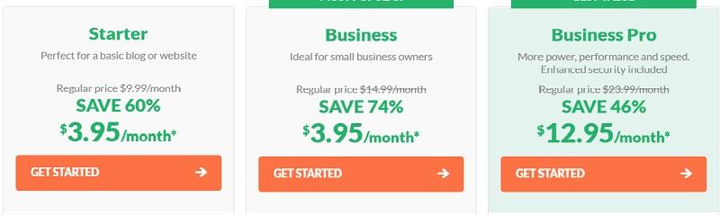 HostPapa web hosting pricing