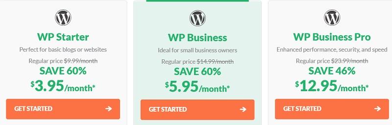 HostPapa WordPress Hosting pricing