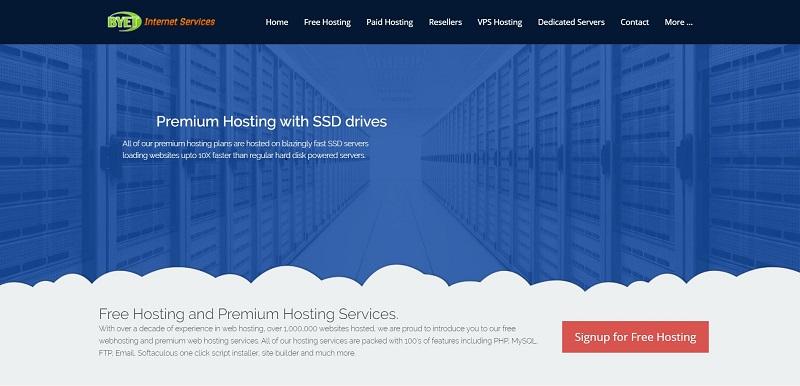 zero cost mysql database hosting by byethost
