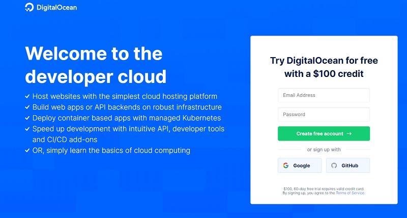 DigitalOcean hosting in USA
