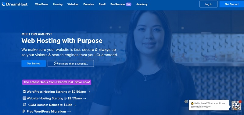 Dreamhost hosting in usa