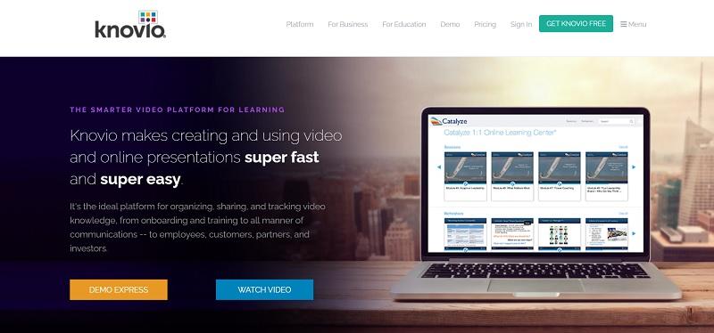 Knovio video hosting