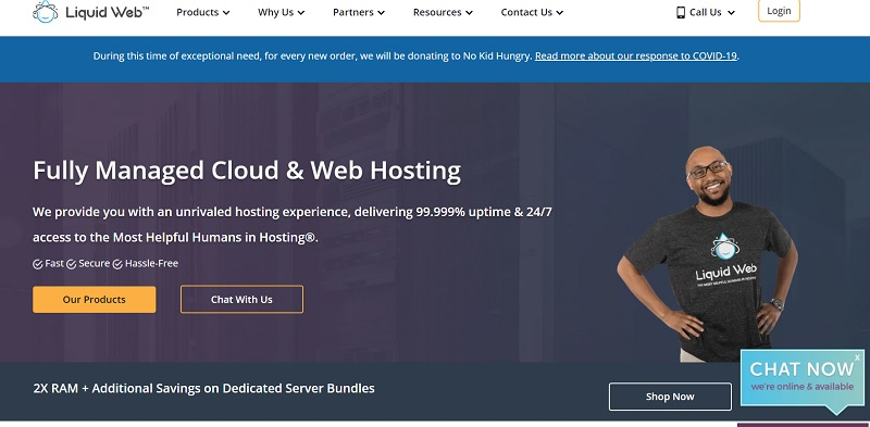 liquid web hosting service in USA