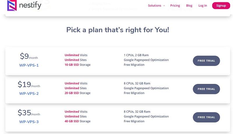 Nestify.io Pricing Plan
