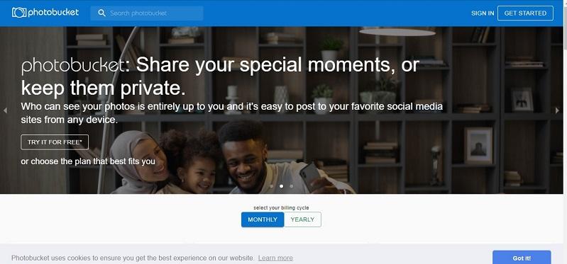 photobucket free image hosting site