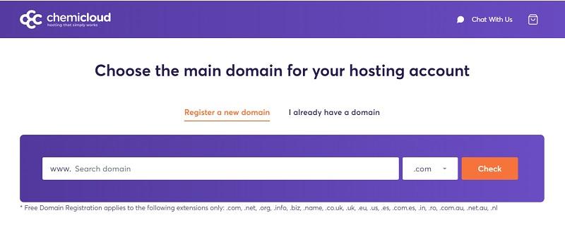 ChemiCloud Free Lifetime Domain Registration