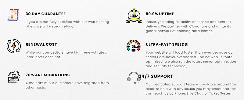Features of InterServer