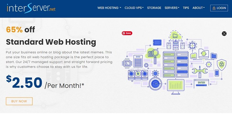 Standard Web Hosting Purchase from InterServer