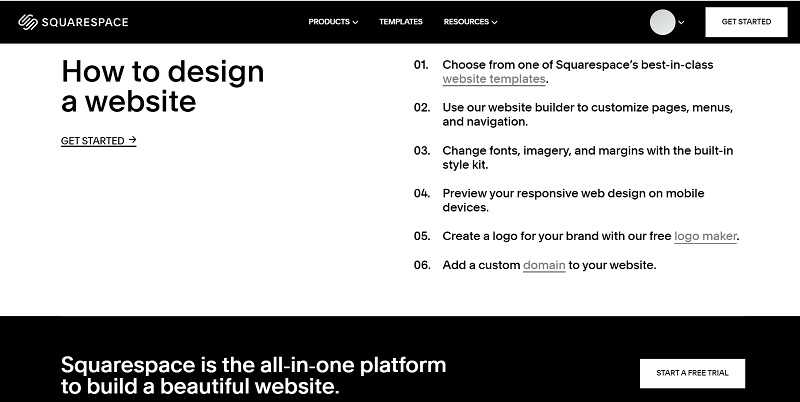Squarespace features