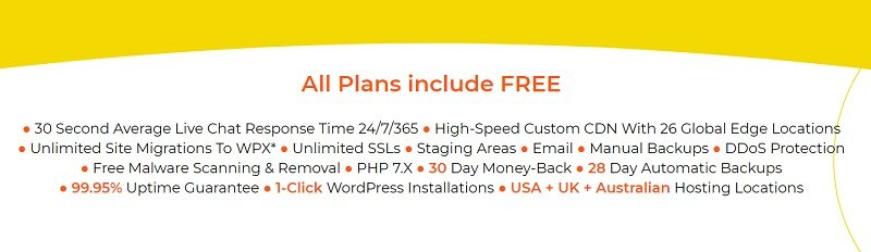 WPX Hosting free services